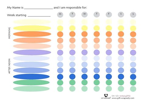 make your own chart create your own chore chart if you would like to create