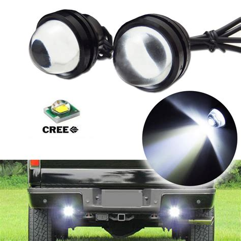 cree led backup lights 2x high power bull eye cree led projector light