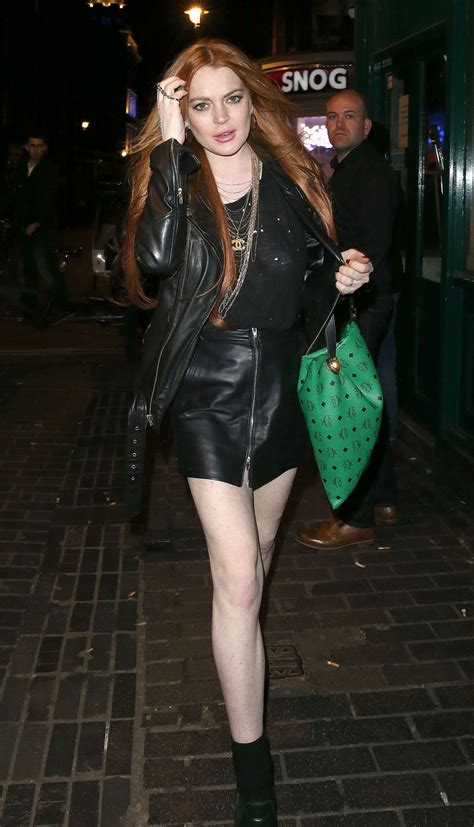 Lindsay Lohan Leaving A Club by Lindsay Lohan Out Style Leaving The Firehouse Club
