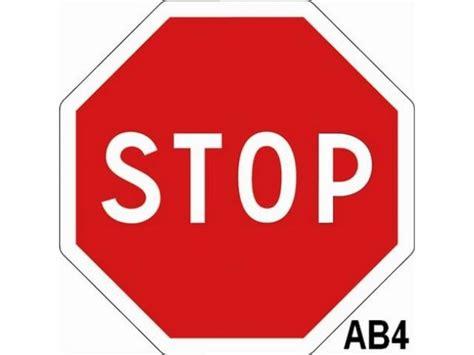 large printable road signs panneau stop ab4 classe 2 m abc collectivit 233 s devis