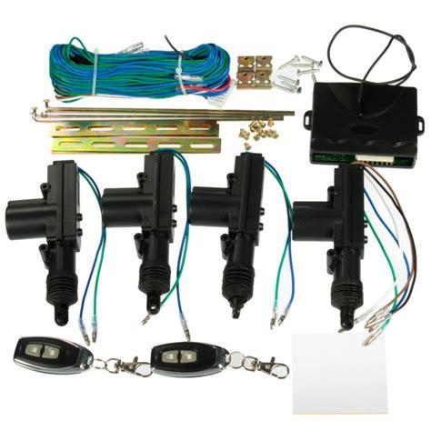 Cental Lock System Security car 2 or 4 doors central lock locking keyless entry system kit remote fob alex nld
