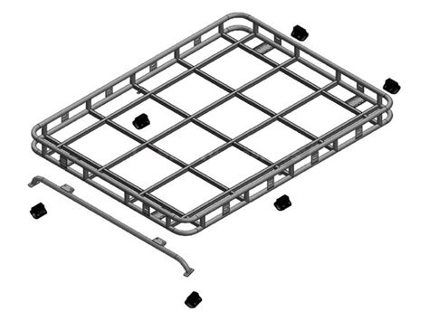 Safety Devices Roof Rack by Safety Devices Explorer Roof Rack 90 110 With Roll Cage Rail 4x4 Da4723 Brp