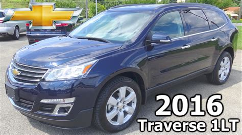 chevrolet traverse blue 2016 chevy traverse awd lt with 1lt review and overview