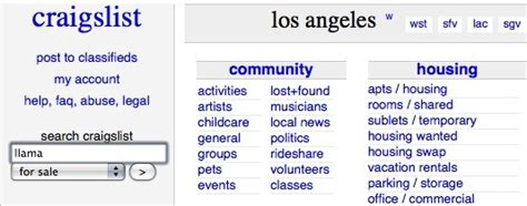 Apartments Craigslist California Craigslistlos Angeles Autos Post