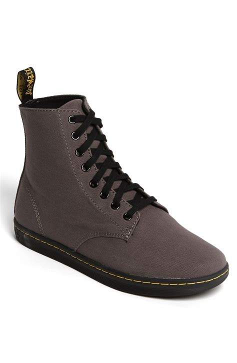 mens dr martens alfie boot dr martens alfie boot in gray for grey canvas lyst