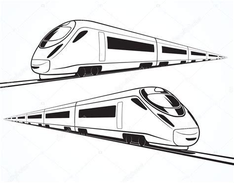 treno clipart conjunto de siluetas de tren de alta velocidad modernos