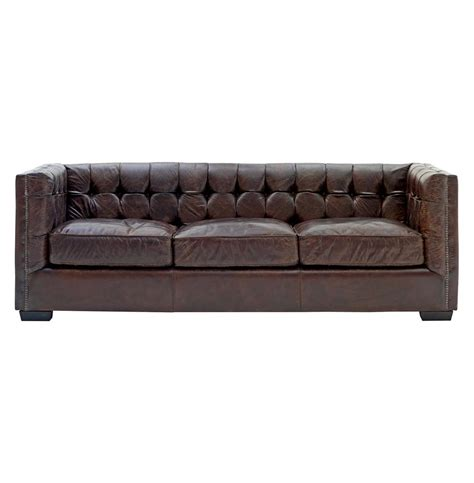arm couch owen rustic lodge vintage brown leather arm sofa kathy