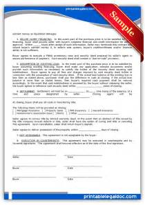 contract for sale of land template free printable contract to sell on land contract form