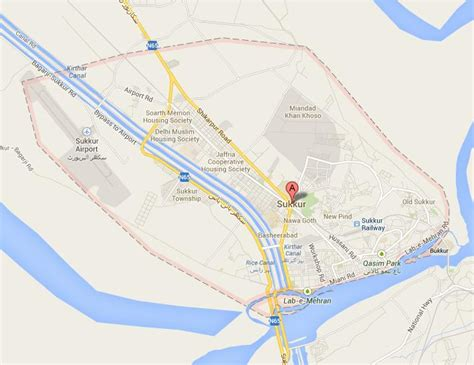 sukkur map sukkur city map