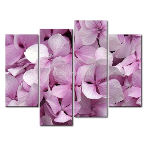 4 Pink Flower Wall D Cor Picture Print 3 pink wall painting mauve hydrangea crowd picture print on canvas flower 4 5 the