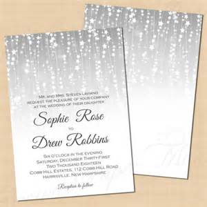 silver wedding invitation templates 15 winter wedding invitation templates free sle