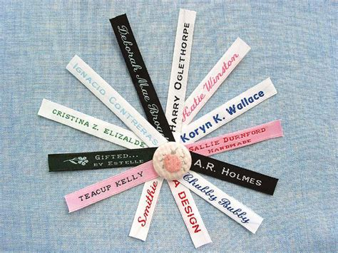 Fabric Labels For Handmade Items - classic trademarks for your own handmade items