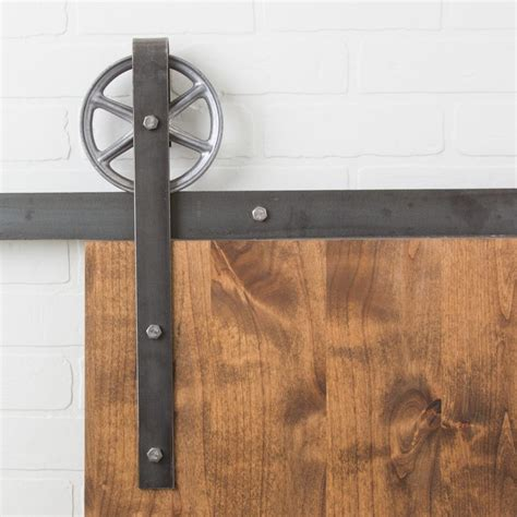 Flat Track Barn Door Hardware Traditional 6 Quot Wheel Flat Track Hardware Kit Barndoorhardware