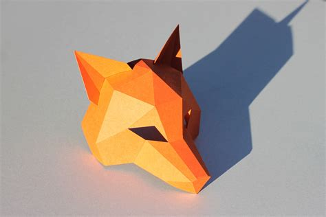 Origami Fox Mask - origami fox mask image collections craft decoration ideas