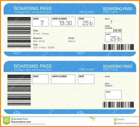 plane ticket gift card template gift certificate template for airline tickets image