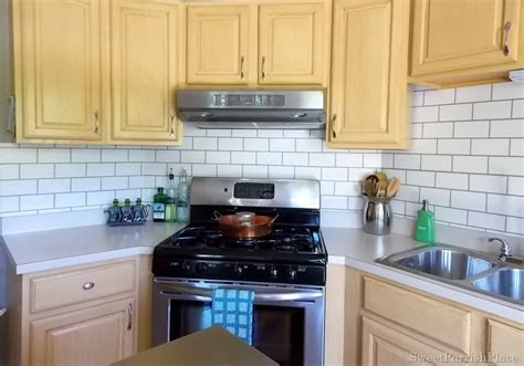 Painted Kitchen Backsplash Photos by Painted Subway Tile Backsplash Construction Haven Home