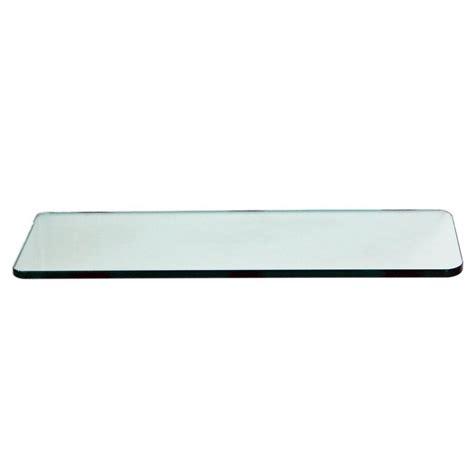 glass shelving home depot floating glass shelves 3 8 in rectangle glass corner