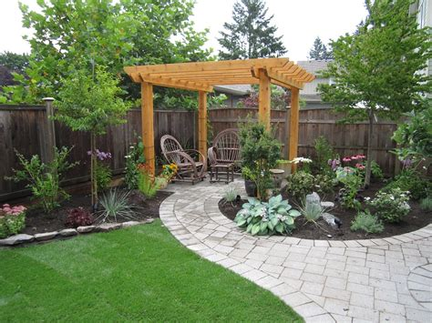 pics of landscaped backyards small backyard makeover srp enterprises weblog