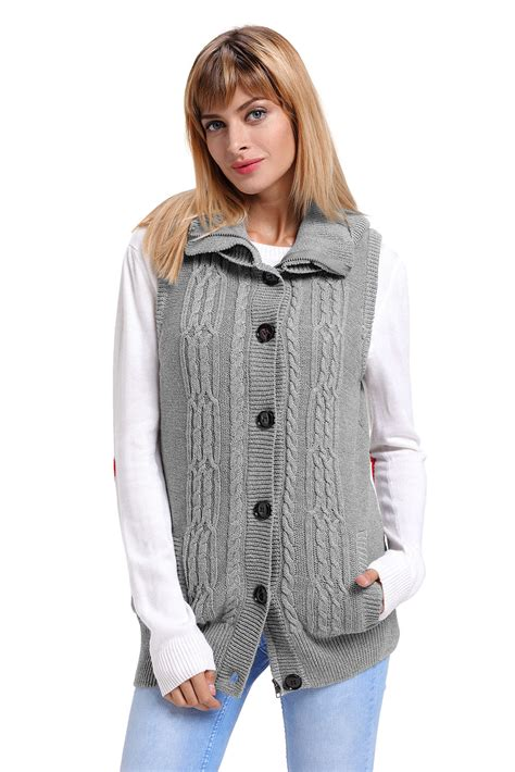Hooded Knit Sweater cable knit hooded sweater sweater vest