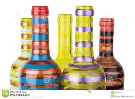 Colorful Bottle Glass colorful glass bottles royalty free stock photo image