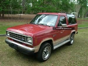 1988 ford bronco ii eddie bauer sport utility 2 door 2 9l