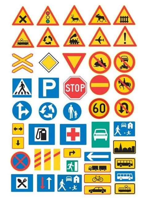 printable road signs and meanings traffic signs liikennemerkit minor postcards