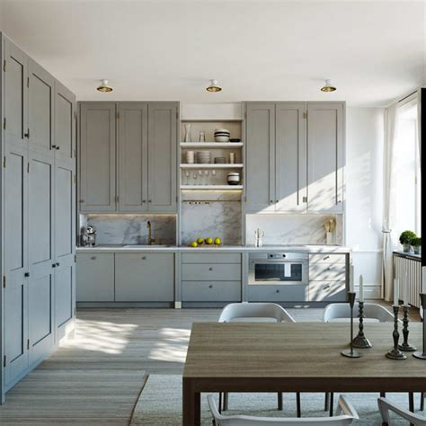 Grey Modern Kitchen Cabinets Gray Kitchen Cabinets Contemporary Kitchen Esny