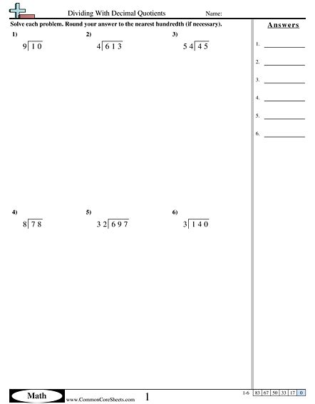 printable math worksheets on dividing decimals math worksheets dividing decimals 1000 ideas about
