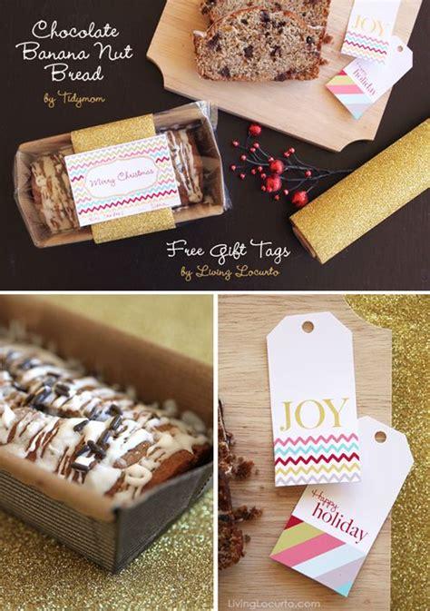diy christmas gift idea chocolate banana nut bread and