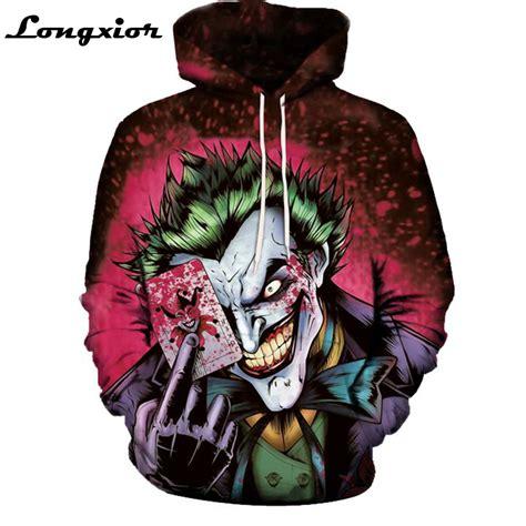 Sweater Squad Joker m61 new arrival joker hoodie squad deadshot all print 3d sweatshirt mens