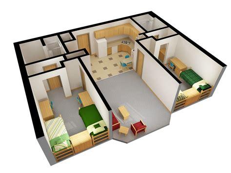 The Dakota Floor Plan niskanen hall residence life ndsu