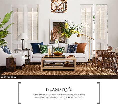 living room furniture island island style furniture decor williams sonoma