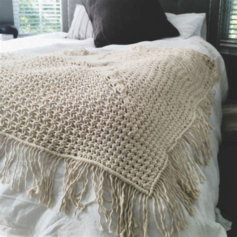 macrame blanket macrame throw blanket bonfire bonfire