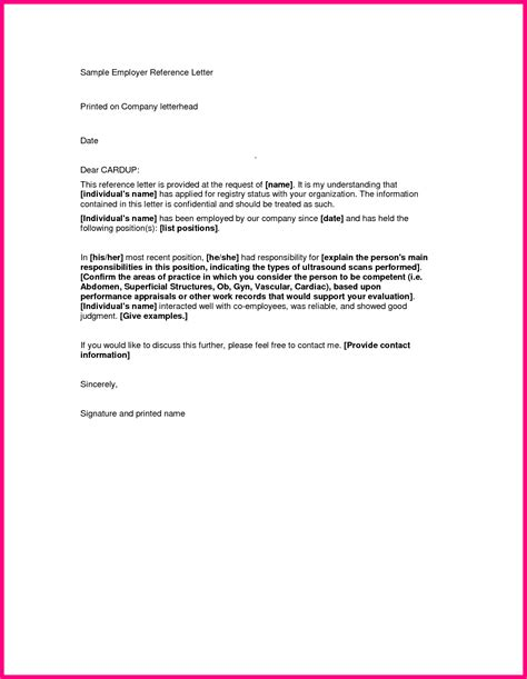 Reference Letter Format Doc sle recommendation letter from employer doc docoments