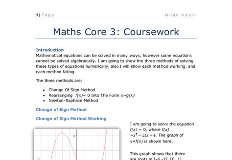 Mba Prerequisite Math by 3 Coursework