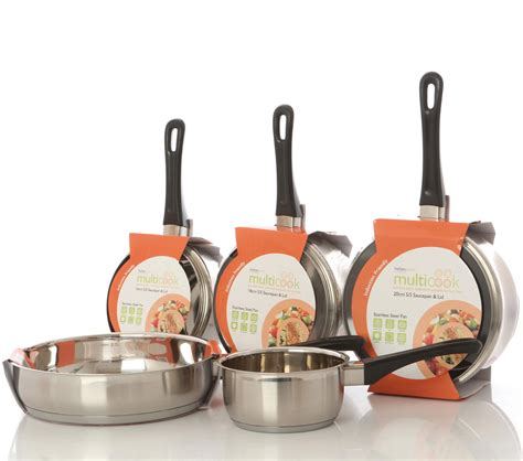 induction cooking set multicook stainless steel induction 5 pan set