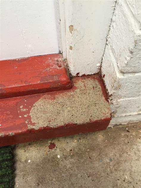 remove paint from concrete door threshold