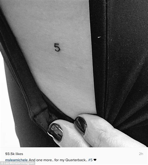 lea michele tattoo lea michele gets new tribute to monteith and