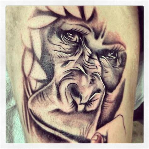 3d tattoo vancouver gorilla tattoo by adrenaline vancity tattoo artist steve