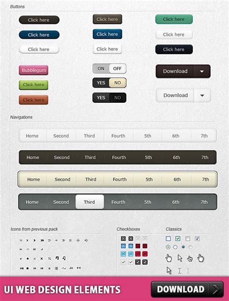 ui pattern download ui web design elements free psd download download psd
