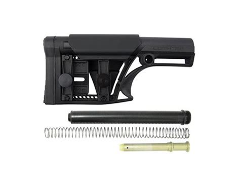 Luth Ar Mba 1 Black W 223 Buffer Assembly by Luth 308 Mba Modular Stock W Buffer Assembly Kit