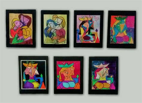 cuadros abstractos de picasso cuadros cuadros tripticos decoracion modernos dormitorio
