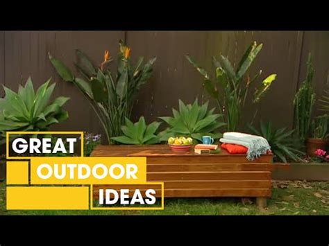 how to build an outdoor bench seat better homes and gardens diy how to make an outdoor bench seat youtube