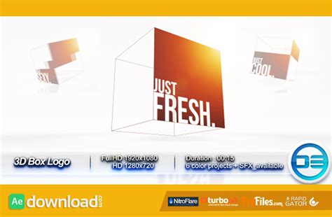 after effects 3d templates 3d box logo videohive template free free