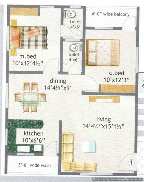 House Plan 800 Sq Ft Chennai 800 Sq Ft House Plan With Stairs