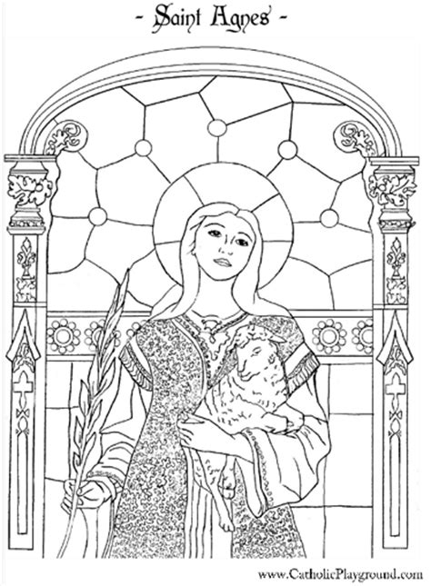 Saints Coloring Pages Catholic Playground St Coloring Page Catholic