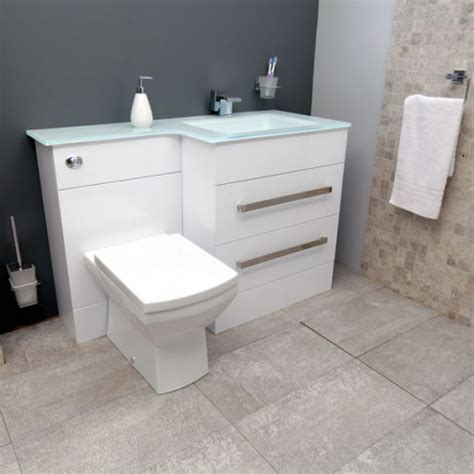 Vigo Bathroom Furniture Vigo Right Combination Unit And White Basin