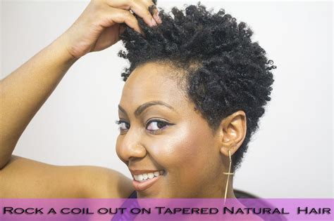 do it yourself tapered cut natural hair how to finger coil and rock a coil out with a tapered cut
