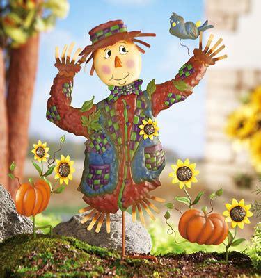 Scarecrow Garden Decor Fall Scarecrow Garden Stake Set Decoration Outdoor Yard Decorating Ideas