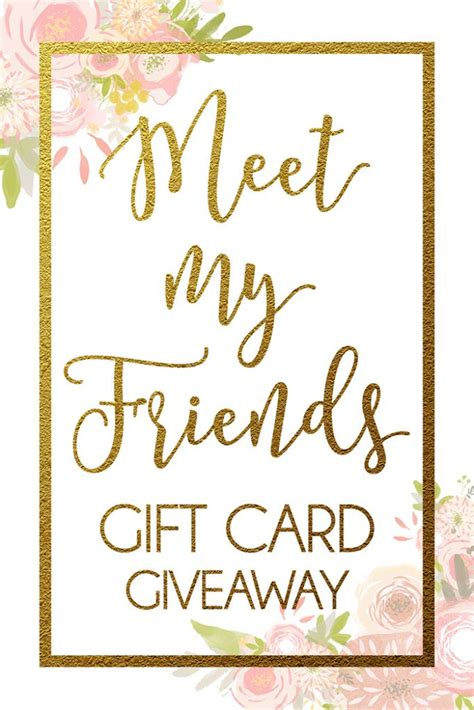 500 Gift Card Giveaway - meet my friends 500 gift card giveaway six sisters stuff